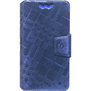 Jojo Flip Cover for XOLO A1000s (Dark Blue)