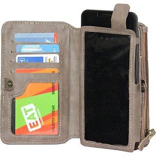 Jojo Pouch for XOLO A700s (Light Grey)