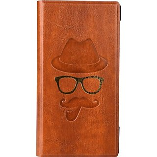 Jojo Wallet Case Cover for XOLO Win Q1000 (Light Brown)