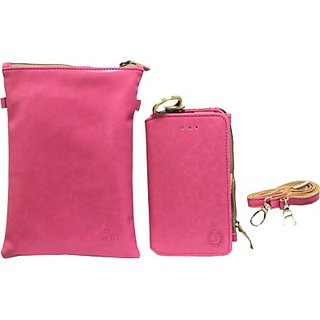 Jojo Pouch for Micromax A90 Superfone Pixel (Pink)