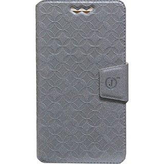 Jojo Flip Cover for Motorola Moto G (2014) (Silver)