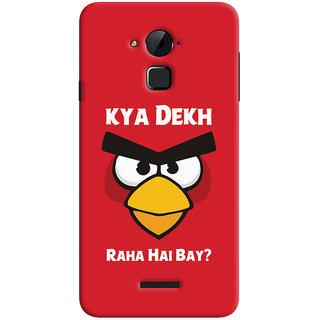 Oyehoye Kya Dekh Raha Hai Bay Quirky Printed Designer Back Cover For Coolpad Note 3 Lite Mobile Phone - Matte Finish Hard Plastic Slim Case