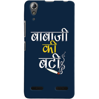 Oyehoye Baba Ji Ki Booty Quirky Printed Designer Back Cover For Lenovo A6000 Mobile Phone - Matte Finish Hard Plastic Slim Case