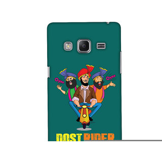 Oyehoye Dost Rider Quirky Printed Designer Back Cover For Samsung Galaxy Z3 Mobile Phone - Matte Finish Hard Plastic Slim Case