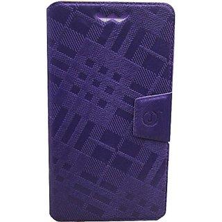 Jojo Flip Cover for Acer Liquid E2 Duo with Dual SIM card slot (Purple)