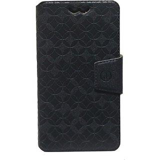 Jojo Flip Cover for Lava Iris X8 (Black)