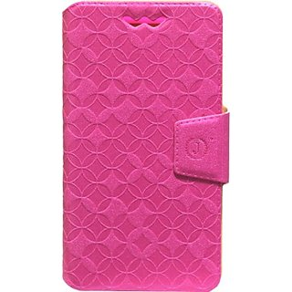 Jojo Flip Cover for Nokia Lumia 830 (Dark Pink)