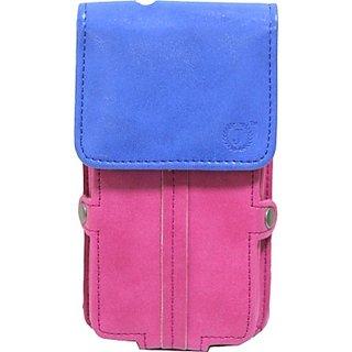 Jo Jo Pouch for Lenovo Vibe S1 Lite (Pink, Dark Blue)