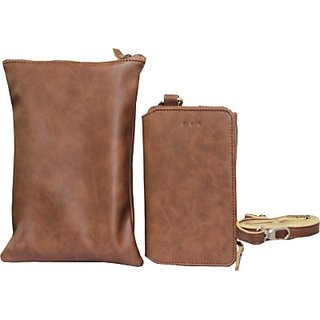 Jojo Wallet Case Cover for ZTE Zmax (Brown)