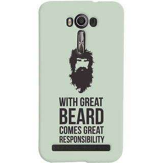 Oyehoye Beard Quote Quirky Printed Designer Back Cover For Asus Zenfone 2 Laser ZE601KL Mobile Phone - Matte Finish Hard Plastic Slim Case