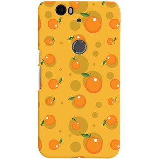 Oyehoye Fruity Pattern Style Printed Designer Back Cover For Huawei Google Nexus 6P Mobile Phone - Matte Finish Hard Plastic Slim Case