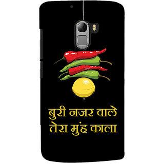 Oyehoye Buri Nazar Wale Tera Muh Kala Quirky Printed Designer Back Cover For Lenovo K4 Note Mobile Phone - Matte Finish Hard Plastic Slim Case