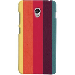 Oyehoye Colourful Stripes Printed Designer Back Cover For Lenovo Vibe P1 Turbo Mobile Phone - Matte Finish Hard Plastic Slim Case