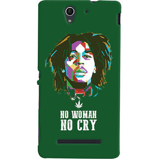 Oyehoye No Woman No Cry Quirky Printed Designer Back Cover For Sony Xperia C3 / Dual Sim Mobile Phone - Matte Finish Hard Plastic Slim Case