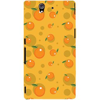 Oyehoye Fruity Pattern Style Printed Designer Back Cover For Sony Xperia Z Mobile Phone - Matte Finish Hard Plastic Slim Case