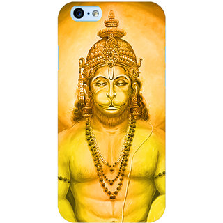 Oyehoye Lord Hanuman Devotional Printed Designer Back Cover For Apple iPhone 6S Mobile Phone - Matte Finish Hard Plastic Slim Case