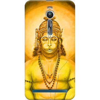 Oyehoye Lord Hanuman Devotional Printed Designer Back Cover For Asus Zenfone 2 ZE550ML Mobile Phone - Matte Finish Hard Plastic Slim Case