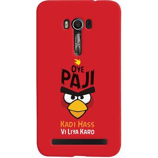 Oyehoye Quirky Punjabi Slangs Printed Designer Back Cover For Asus Zenfone Go Mobile Phone - Matte Finish Hard Plastic Slim Case