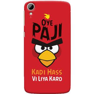Oyehoye Quirky Punjabi Slangs Printed Designer Back Cover For HTC Desire 828 / Dual Sim Mobile Phone - Matte Finish Hard Plastic Slim Case