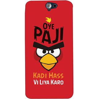 Oyehoye Quirky Punjabi Slangs Printed Designer Back Cover For HTC One A9 Mobile Phone - Matte Finish Hard Plastic Slim Case