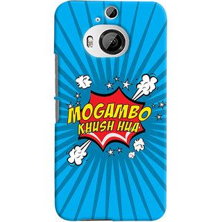 Oyehoye Mogambo Khush Hua Quirky Printed Designer Back Cover For HTC One M9 Plus Mobile Phone - Matte Finish Hard Plastic Slim Case