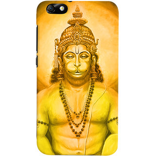 Oyehoye Lord Hanuman Devotional Printed Designer Back Cover For Huawei Honor 4X / Dual Sim / Glory Play Mobile Phone - Matte Finish Hard Plastic Slim Case