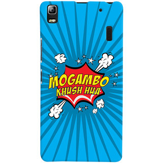 Oyehoye Mogambo Khush Hua Quirky Printed Designer Back Cover For Lenovo A7000 Mobile Phone - Matte Finish Hard Plastic Slim Case