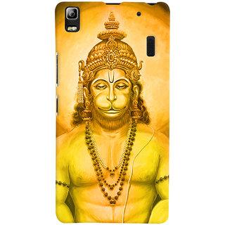 Oyehoye Lord Hanuman Devotional Printed Designer Back Cover For Lenovo K3 Note / A7000 Turbo Mobile Phone - Matte Finish Hard Plastic Slim Case