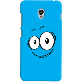 Oyehoye Smiley Quirky Printed Designer Back Cover For Lenovo Vibe P1 Mobile Phone - Matte Finish Hard Plastic Slim Case