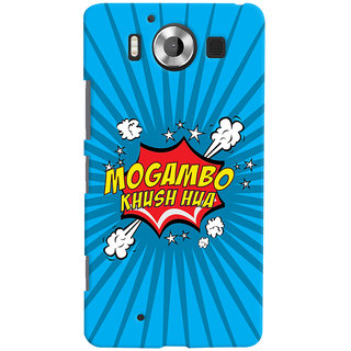 Oyehoye Mogambo Khush Hua Quirky Printed Designer Back Cover For Microsoft Lumia 950 Mobile Phone - Matte Finish Hard Plastic Slim Case