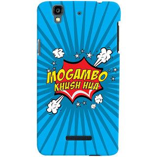 Oyehoye Mogambo Khush Hua Quirky Printed Designer Back Cover For Micromax Yureka Plus Mobile Phone - Matte Finish Hard Plastic Slim Case