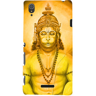 Oyehoye Lord Hanuman Devotional Printed Designer Back Cover For Sony Xperia T3 Mobile Phone - Matte Finish Hard Plastic Slim Case