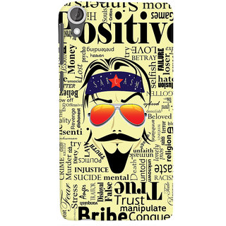 Oyehoye Sarcasm Quirky Printed Designer Back Cover For HTC Desire 820 Dual Sim Mobile Phone - Matte Finish Hard Plastic Slim Case