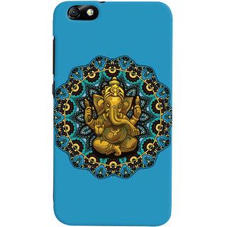 Oyehoye Lord Ganesha Ganpati Devotional Printed Designer Back Cover For Huawei Honor 4X / Dual Sim / Glory Play Mobile Phone - Matte Finish Hard Plastic Slim Case
