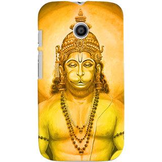 Oyehoye Lord Hanuman Devotional Printed Designer Back Cover For Motorola Moto E Mobile Phone - Matte Finish Hard Plastic Slim Case