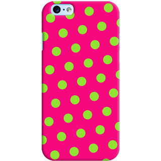 Oyehoye Polka Dots Pink Pattern Style Printed Designer Back Cover For New Apple iPhone 6 Mobile Phone - Matte Finish Hard Plastic Slim Case