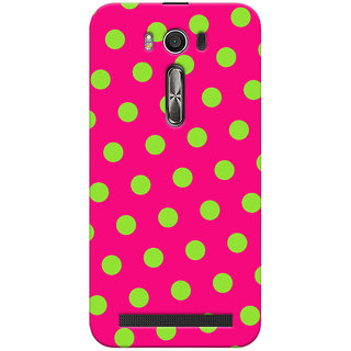 Oyehoye Polka Dots Pink Pattern Style Printed Designer Back Cover For Asus Zenfone 2 Laser ZE500KL Mobile Phone - Matte Finish Hard Plastic Slim Case
