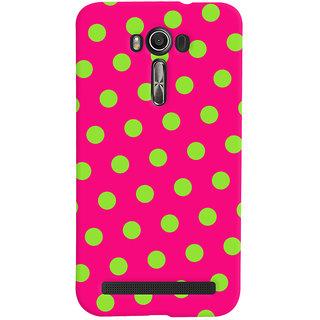 Oyehoye Polka Dots Pink Pattern Style Printed Designer Back Cover For Asus Zenfone 2 Laser ZE601KL Mobile Phone - Matte Finish Hard Plastic Slim Case