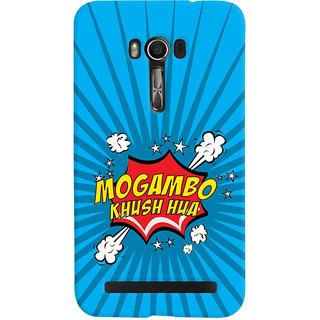 Oyehoye Mogambo Khush Hua Quirky Printed Designer Back Cover For Asus Zenfone Go Mobile Phone - Matte Finish Hard Plastic Slim Case