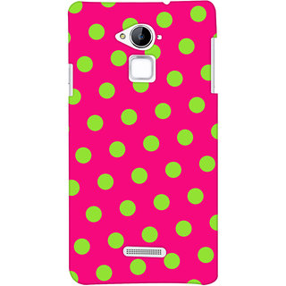 Oyehoye Polka Dots Pink Pattern Style Printed Designer Back Cover For Coolpad Note 3 Mobile Phone - Matte Finish Hard Plastic Slim Case