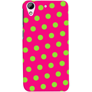 Oyehoye Polka Dots Pink Pattern Style Printed Designer Back Cover For HTC Desire 626 / 626 G Plus Mobile Phone - Matte Finish Hard Plastic Slim Case