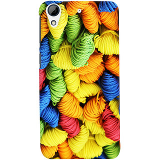 Oyehoye Colourpul Pattern Style Printed Designer Back Cover For HTC Desire 728 / 728G / Dual Sim Mobile Phone - Matte Finish Hard Plastic Slim Case