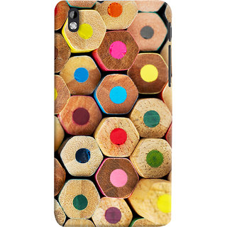 Oyehoye Colourful Pattern Style Printed Designer Back Cover For HTC Desire 816 / 816G Dual Sim Mobile Phone - Matte Finish Hard Plastic Slim Case