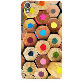 Oyehoye Colourful Pattern Style Printed Designer Back Cover For HTC Desire 820 Mobile Phone - Matte Finish Hard Plastic Slim Case