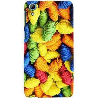Oyehoye Colourpul Pattern Style Printed Designer Back Cover For HTC Desire 826/Dual Sim Mobile Phone - Matte Finish Hard Plastic Slim Case