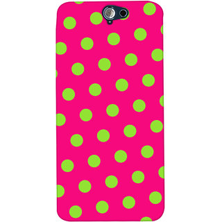 Oyehoye Polka Dots Pink Pattern Style Printed Designer Back Cover For HTC One A9 Mobile Phone - Matte Finish Hard Plastic Slim Case