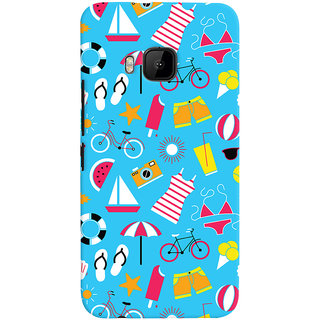 Oyehoye Beach Pattern Style Printed Designer Back Cover For HTC One M9 Mobile Phone - Matte Finish Hard Plastic Slim Case