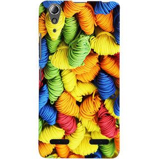 Oyehoye Colourpul Pattern Style Printed Designer Back Cover For Lenovo A6000 Plus Mobile Phone - Matte Finish Hard Plastic Slim Case