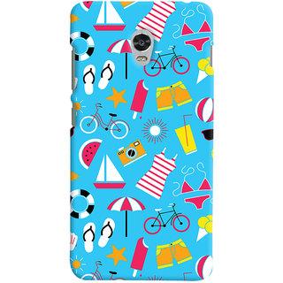 Oyehoye Beach Pattern Style Printed Designer Back Cover For Lenovo Vibe P1 Turbo Mobile Phone - Matte Finish Hard Plastic Slim Case