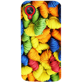 Oyehoye Colourpul Pattern Style Printed Designer Back Cover For LG Google Nexus 5 Mobile Phone - Matte Finish Hard Plastic Slim Case